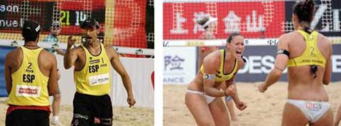 Gran victoria del voley playa