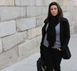 Lucía Sócam, paseando por Madrid