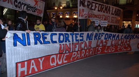 Imagen de una manifestación en la Puerta del Sol de Madrid. Foto: Prudencio Morales.