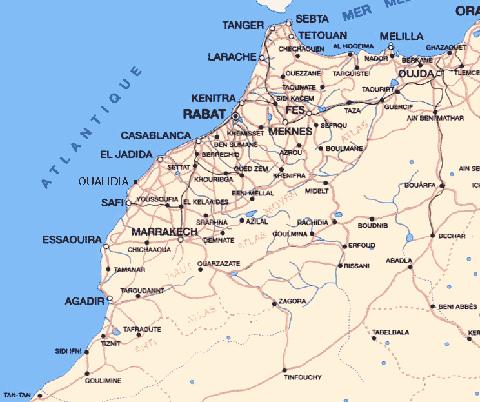 Mapa De Marruecos Ciudades.Marruecos De Contraste En Contraste