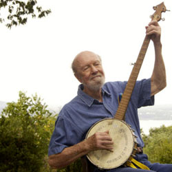 Pete Seeger at his home in Beacon NY