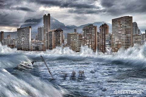 Benidorm afectado Por El Cambio Climático.  (Imágenes Greenpeace / Pedro ARMESTRE / Mario Gómez)