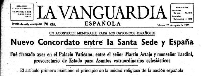 Siete lustros de los acuerdos con la Santa Sede