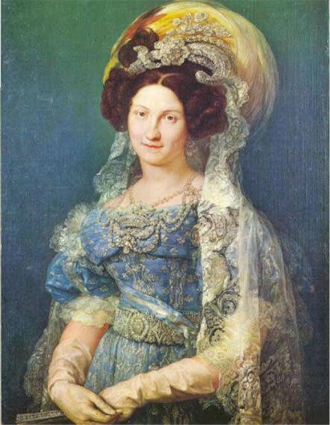 Resultado de imagen de cristina de borbon esposa de fernando vii