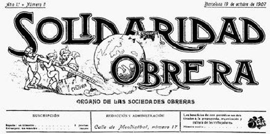 Resultado de imagen de SOLIDARIDAD OBRERA