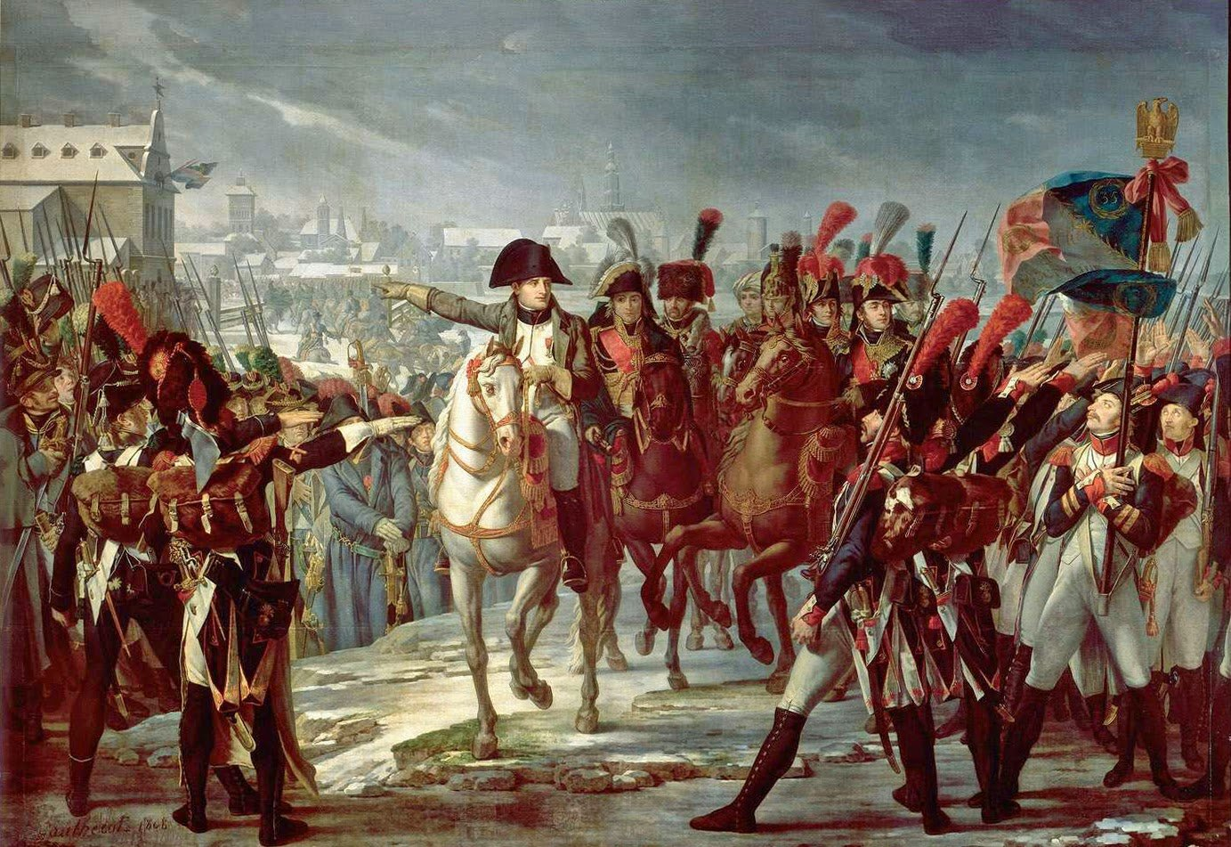 7-Claude Gautherot - Napoleon ordering the II Corps into action at Augsbourg, 1805