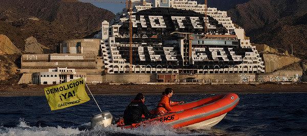 Desmontando El Algarrobico |El despropósito empresarial y judicial del hotel de Azata del Sol | Foto: Greenpeace