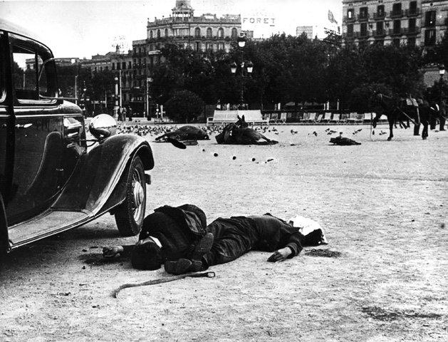 Plaza de Cataluña, Barcelona. 1936