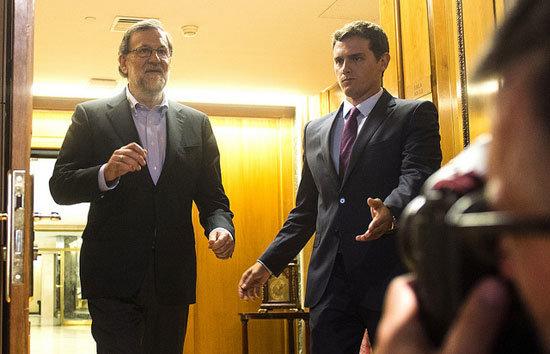 Mariano Rajoy y Albert Rivera en el Congreso. (Foto de archivo)