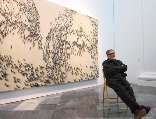 """Juan Genovés, pintor y creador del conjunto escultórico """"El Abrazo ..."""