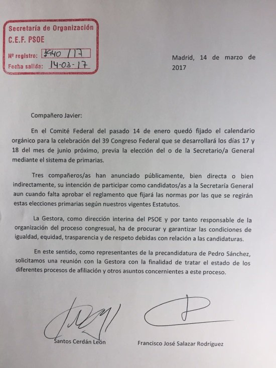 carta Sanchez Gestora