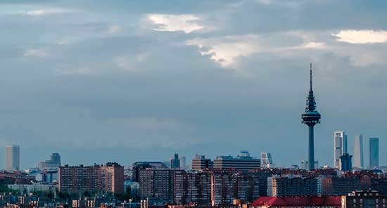 Skyline de Madrid. / Goodfreephotos