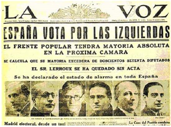 Resultado de imagen de pacto del frente popular 1936