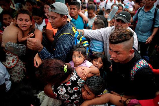 Capturan a migrantes centroamericanos en Chiapas