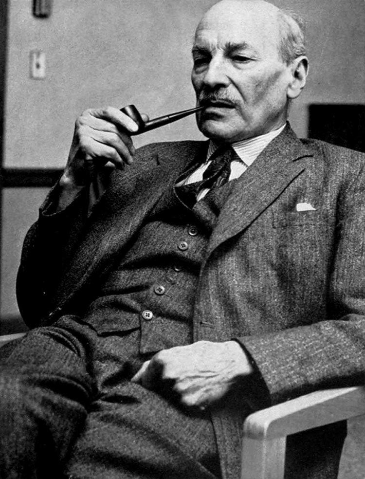 Clement Attlee. Primer ministro del Reino Unido entre 1945 y 1951.Laborista