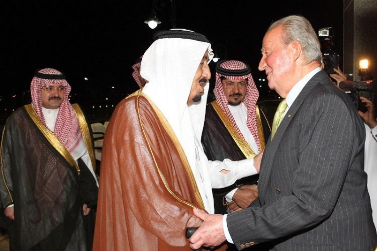 El rey Juan Carlos durante una visita a Arabia Saudí.