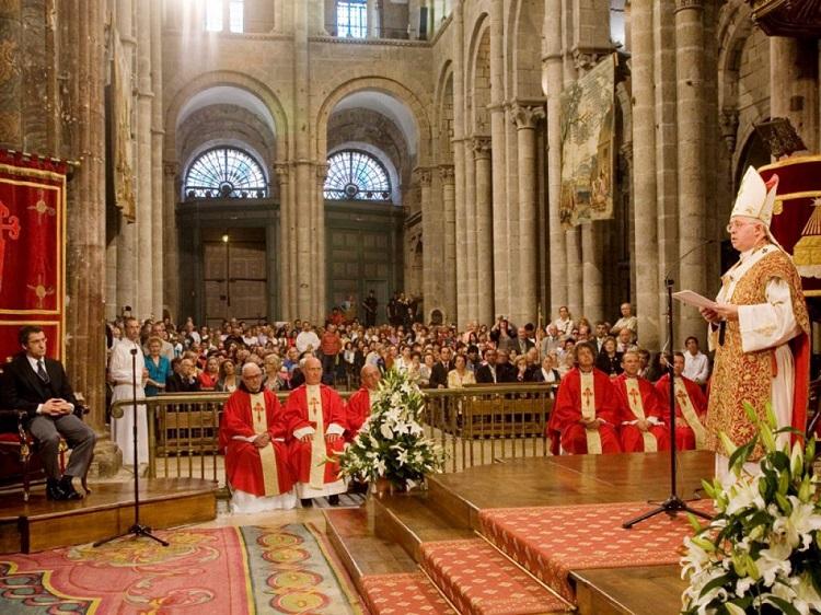Ofrenda Apostol Santiago. (Imagen de archivo)