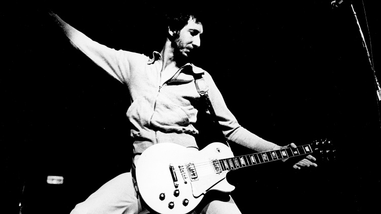 1972: Guitarist Pete Townshend of the rock and roll band