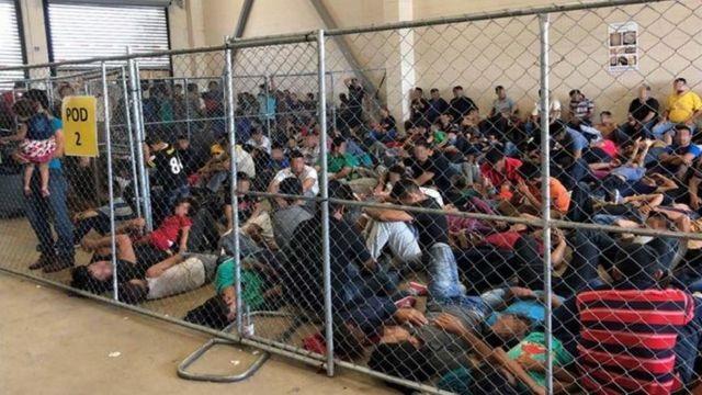 inmigrantes enjaulados